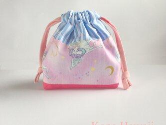 夢を叶える 小さな コップ袋 ペガサス ユニコーン 女の子 入園入学グッズ 巾着の画像