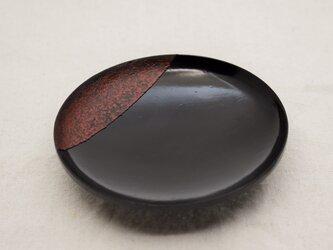 引盃       石目黒漆朱塗研出の画像