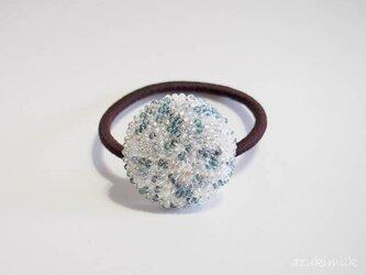 ビーズ編みヘアゴム【L-25】の画像