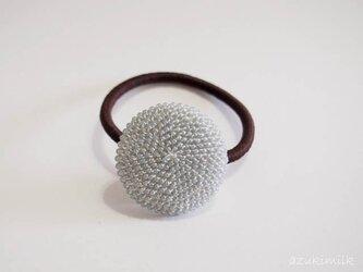 ビーズ編みヘアゴム【L-26】の画像