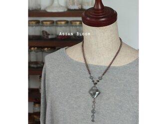 クラウディークオーツのグランY字ネックレスの画像