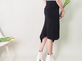 【送料無料】ストレッチ マーメイドスカート(黒)18055の画像
