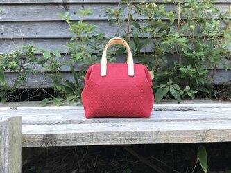Boston bag S size [Växbo Lin]  ボルドーの画像