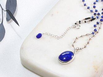 ラピスラズリのネックレスの画像