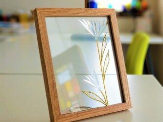 ライトブラウン木枠フォトフレーム『ヌーボー』の画像