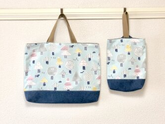 Lesson bag  &shoes case【森の木々】の画像