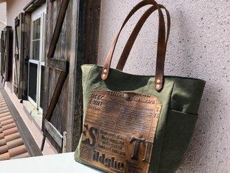 宅急便送料無料☆army duc square tote bag M khakiの画像