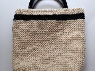 『hibi』ガーター編みのトートバッグの画像