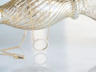 【14KGF】Necklace, Circle CZの画像
