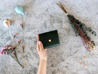イングラサット_グリーン◆外装◆こども財布◆三つ折りの画像