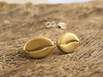 真鍮◆珈琲豆◆SVポストピアス/スタッドの画像