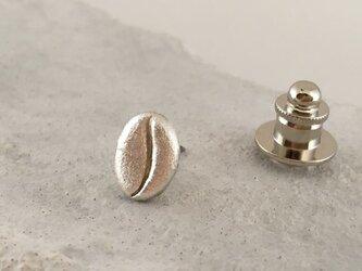 Silver◆珈琲豆◆ピンバッジ/タイタックの画像
