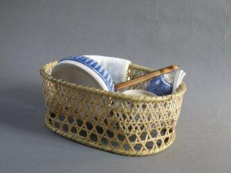根曲竹 生活の道具 エコな生活 水切りかご 楕円籠 椀篭 大の画像
