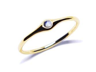 K18ロイヤルブルームーンストーンリング【Pio by Parakee】Royal blue moonstoneの画像