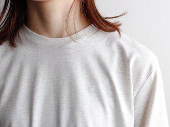 combed yarn enbroidery mark tshirt/oatmealの画像