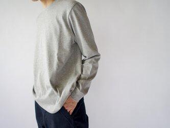 combed yarn enbroidery mark tshirt/heather grayの画像