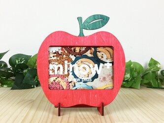 「りんご」木製写真立て(L判サイズ用)の画像