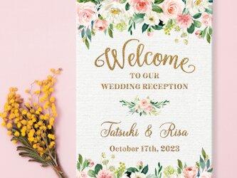 Pink & Glitter ウェルカムボード 結婚式の画像