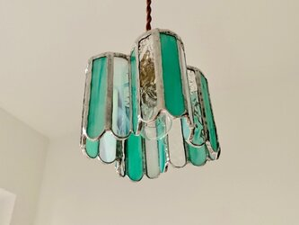 『Healing night』クローバー型ランプ エメラルドグリーン BayView の画像