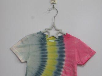 タイダイ染め 虹のような半袖キッズTシャツ2019①の画像