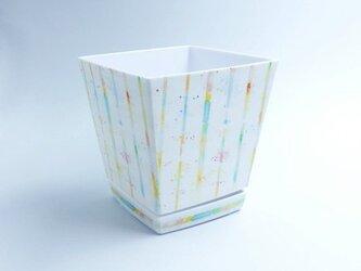 14cm プランター 窓辺には虹のプリズム 植木鉢 6号 ローポットの画像