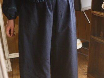 久留米絣濃紺パンツの画像