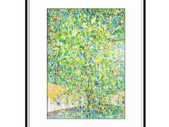 「樹」 ほっこり癒しのイラストA4サイズポスターNo.634 半光沢紙の画像