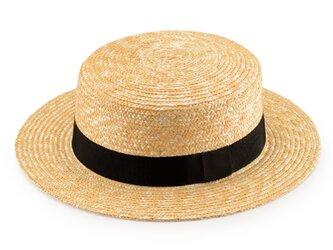 Marin/G マラン/ジー 麦わら ストローハット 婦人用 カンカン帽 ナチュラル 57.5cm [UK-H026-NA-M]の画像