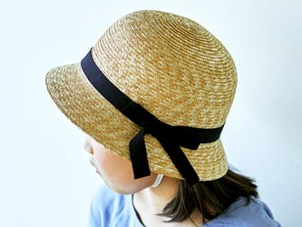 Gland グラン 麦わら帽子 クロッシェ 子供用 ブラック 52cm [UK-H010-GLBK52]の画像