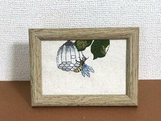 手刺繍浮世絵フレーム*喜多川歌麿「蜂」の画像
