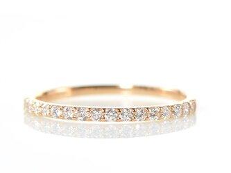 K18 ダイヤモンド リング ハーフエタニティー K18ピンクゴールド BX010-YR-001の画像