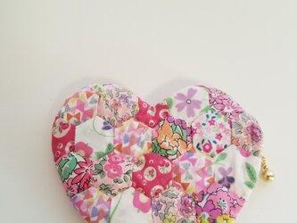 ハートのミニポーチ ピンクの画像