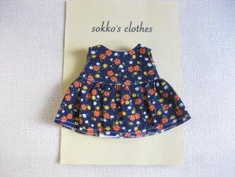 sokko's Dress  濃紺地に小花柄ワンピーススカートの画像