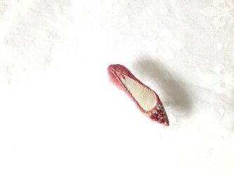 shoe shoe shoe刺繍ブローチNo.52(ピンク)の画像