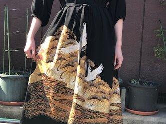 未仕立て刺繍鶴柄絵羽留袖ワンピースMの画像