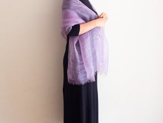 紫根染め シルクのストールの画像