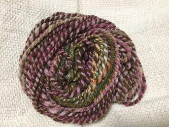 【手紡ぎ糸(スピンドル)の販売です✨】  メリノウール 66gの画像