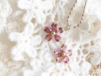 桜 トルマリンネックレスの画像