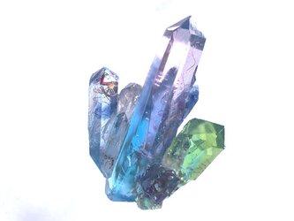 幻想鉱物 インクルージョンクォーツM2-C ブローチの画像