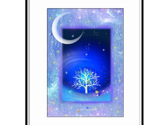 「大切なことは足元にあった」 ほっこり癒しのイラストA4サイズポスターNo.635 半光沢紙の画像