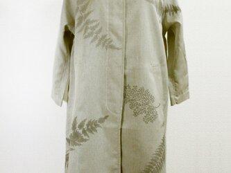 スプリングコート(羊歯の葉模様・グレー色)の画像