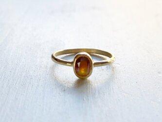 Natural Diamond K18 Ringの画像