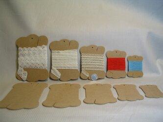 糸巻きカード 5種類 10個セットの画像