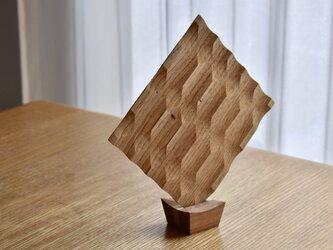 廃材木を使ったトースト皿のスタンド (オニグルミ・杉) の画像
