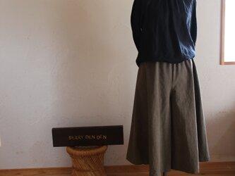 コットンリネン「カーキ」 75cm丈の画像