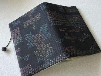 0321    ★再販★    着物リメイク    文庫サイズブックカバー    大島紬の画像