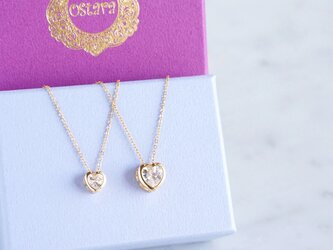 【14KGF】Necklace, Crystal Heart -S/L-の画像