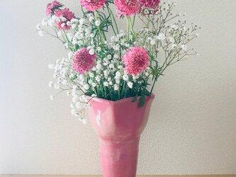 花器 ピンクハートの画像