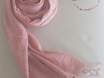 手織り草木染め 手紡ぎ真綿シルク糸のオーダーメイドストール 受注生産の画像