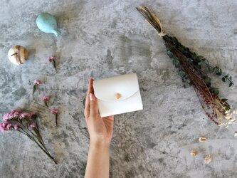 ホワイトレザー(栃木レザー)_ホワイト◆外装◆こども財布◆三つ折りの画像